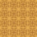Абстрактная безшовная картина от коричневых линий - vector иллюстрация Стоковая Фотография RF