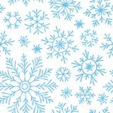 Абстрактная безшовная картина падая голубых снежинок на белой предпосылке Картина зимы для знамени, приветствия, рождества и ново бесплатная иллюстрация