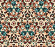 Абстрактная безшовная картина, предпосылка Составленный покрашенных форм Стоковые Изображения