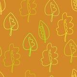Абстрактная безшовная картина, предпосылка лист осени упаденные листья Стоковые Фото