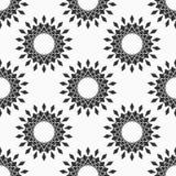 Абстрактная безшовная картина рамок круга вектора Эмблемы круга технологии Стилизованные цветки иллюстрация вектора