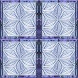 Абстрактная безшовная картина сброса при стилизованные стеклянные цветки походя окно Стоковое Изображение