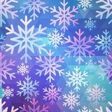 Абстрактная безшовная картина снега Стоковая Фотография