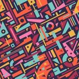 Абстрактная безшовная картина современного искусства для дизайна ткани Стоковые Фотографии RF