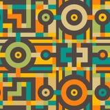 Абстрактная безшовная картина современного искусства для дизайна ткани Стоковое Изображение RF