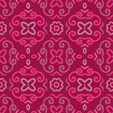 Абстрактная безшовная картина с винтажным розовым орнаментом Стоковое фото RF