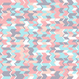 Абстрактная безшовная картина с геометрическими формами Горизонтальное движение триангулярных форм Стоковые Изображения