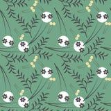 Абстрактная безшовная картина с декоративными цветками Стоковая Фотография