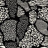 Абстрактная безшовная картина с животной печатью Ультрамодной текстуры нарисованные рукой Стоковая Фотография