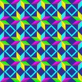 Абстрактная безшовная картина с звездами на голубой предпосылке Стоковые Фотографии RF