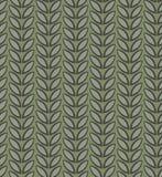 Абстрактная безшовная картина с листьями эскиза Стоковая Фотография RF