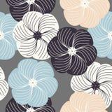 Абстрактная безшовная картина с красивыми цветками Стоковая Фотография