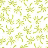 Абстрактная безшовная картина с пальмами Стоковая Фотография