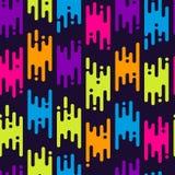 Абстрактная безшовная картина с плоскими геометрическими линиями Стоковые Фото