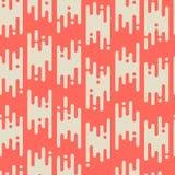 Абстрактная безшовная картина с плоскими геометрическими линиями Стоковые Изображения