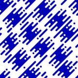 Абстрактная безшовная картина с плоскими геометрическими раскосными линиями Стоковое Изображение RF