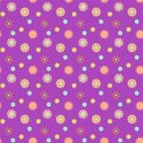 Абстрактная безшовная картина с покрашенными цветками Ба бумажных цветков бесплатная иллюстрация