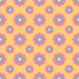 Абстрактная безшовная картина с покрашенными цветками Ба бумажных цветков иллюстрация штока