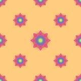 Абстрактная безшовная картина с покрашенными цветками Ба бумажных цветков иллюстрация вектора