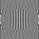 Абстрактная безшовная картина с похожей на глаз диаграммой, черно-белой геометрической предпосылкой Стоковые Фото