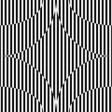 Абстрактная безшовная картина с похожей на звезд диаграммой, черно-белой геометрической предпосылкой Стоковые Фотографии RF