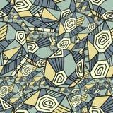 Абстрактная безшовная картина с полигонами Стоковое Фото