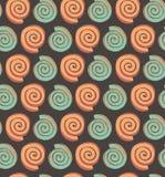 Абстрактная безшовная картина с предпосылкой для обоев, тканью кругов декоративной геометрической, упаковывая Стоковое Фото