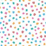 Абстрактная безшовная картина с различными геометрическими формами Красочная иллюстрация вектора иллюстрация штока