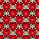 Абстрактная безшовная картина с сердцами Стоковая Фотография RF