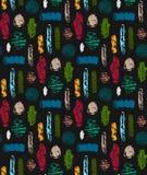 Абстрактная безшовная картина с текстурированными формами Красочная абстрактная повторяя предпосылка творческая конструкция Стоковая Фотография RF