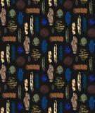 Абстрактная безшовная картина с текстурированными формами Красочная абстрактная повторяя предпосылка творческая конструкция Стоковое фото RF