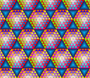 Абстрактная безшовная картина с треугольниками Стоковые Изображения