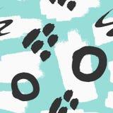 Абстрактная безшовная картина с ходами щетки Нарисовано вручную Grunge, эскиз иллюстрация штока