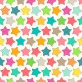 Абстрактная безшовная картина с яркими красочными звездами бесплатная иллюстрация