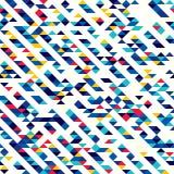 Абстрактная безшовная картина треугольников Тени и градиенты геометрических форм Стоковое Изображение RF