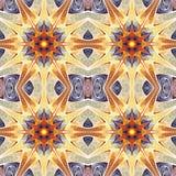 Абстрактная безшовная картина цветка на белой предпосылке Стоковые Фото