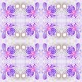 Абстрактная безшовная картина цветка на белой предпосылке Стоковое Изображение