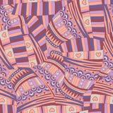 Абстрактная безшовная картина. Стоковые Изображения RF