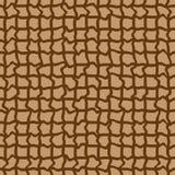 абстрактная безшовная коричневая картина с завитый Стоковое Изображение RF