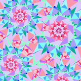 Абстрактная безшовная красочная предпосылка Ornamental картины стоковое фото