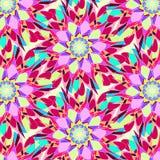 Абстрактная безшовная красочная предпосылка Ornamental картины Стоковая Фотография RF