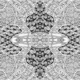 Абстрактная безшовная нарисованная предпосылка руки doodle выравнивается цветастая картина бесплатная иллюстрация