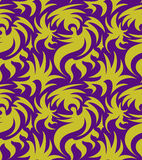 Абстрактная безшовная органическая картина также вектор иллюстрации притяжки corel Стоковые Фото