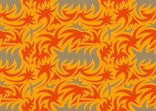 Абстрактная безшовная органическая картина также вектор иллюстрации притяжки corel Стоковая Фотография