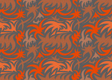 Абстрактная безшовная органическая картина также вектор иллюстрации притяжки corel Стоковая Фотография RF