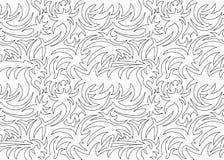Абстрактная безшовная органическая картина также вектор иллюстрации притяжки corel Стоковое фото RF