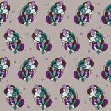 Абстрактная безшовная орнаментальная картина вектора Стоковое Фото