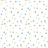 Абстрактная безшовная предпосылка картины с точками и кругами Красочные круги на белой предпосылке confetti бесплатная иллюстрация