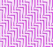 Абстрактная безшовная предпосылка белых и розовых линий и углов Стоковая Фотография RF