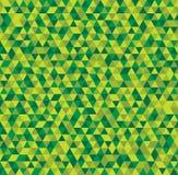 Абстрактная безшовная предпосылка зеленых треугольников Стоковые Фотографии RF